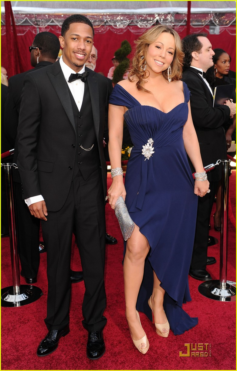 mariah carey nick cannon oscars 2010 red carpet 01