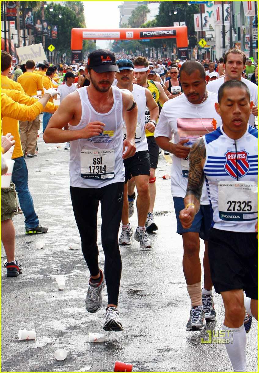 Shia LaBeouf Running Los Angeles Marathon -- PICTURES Shia Labeouf