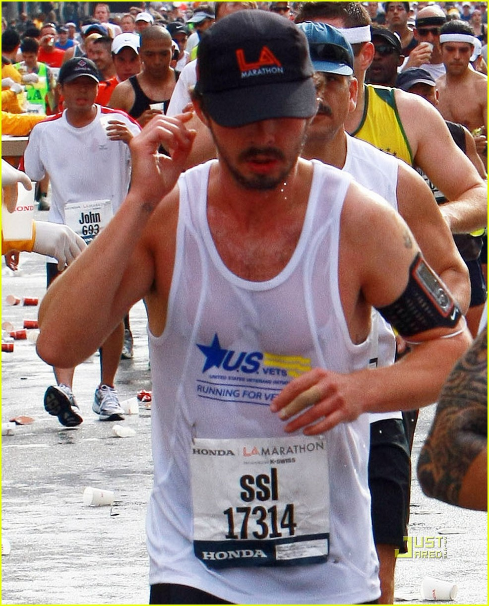 shia labeouf running los angeles marathon 25