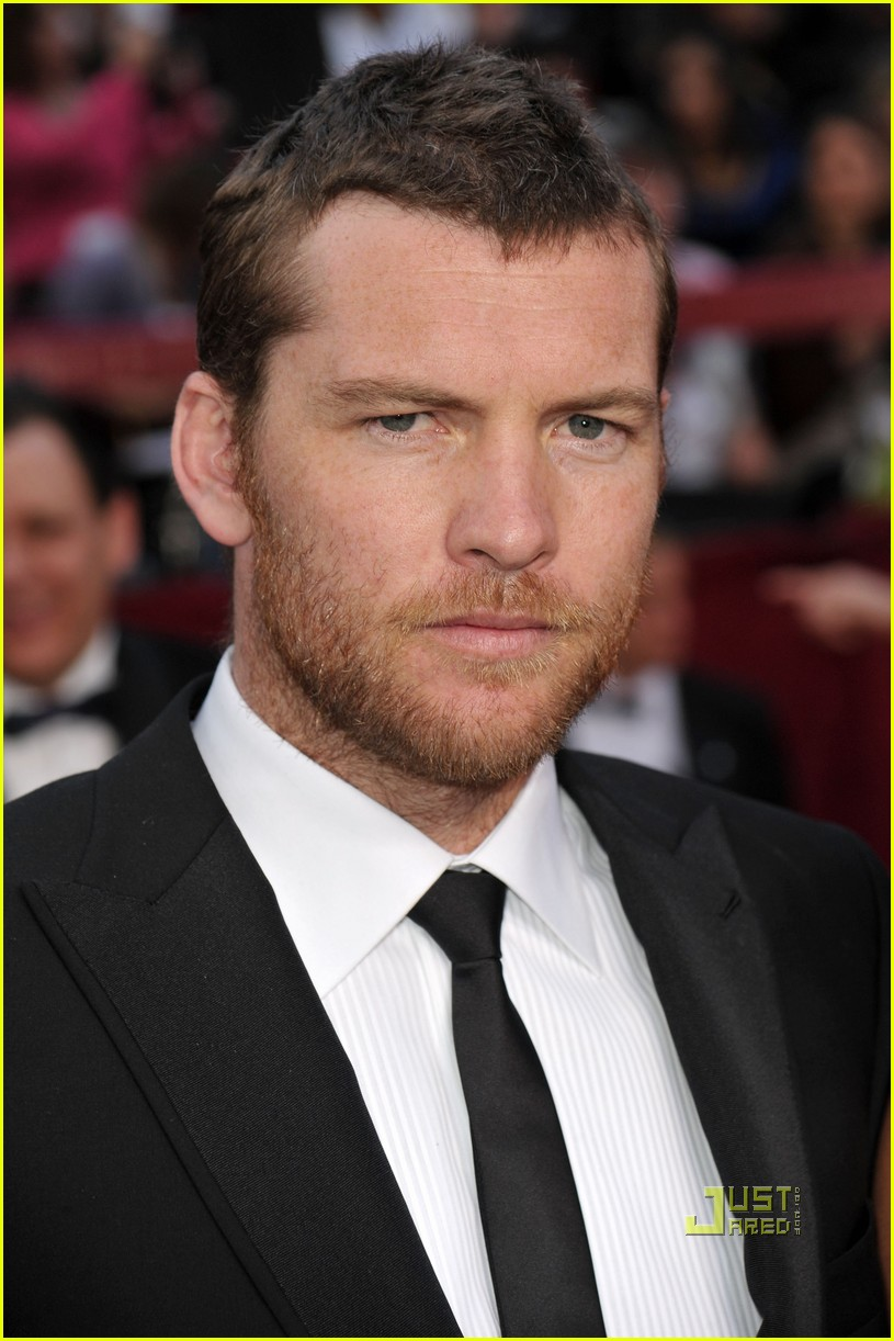 sam worthington natalie mark 2010 oscars red carpet inside 05