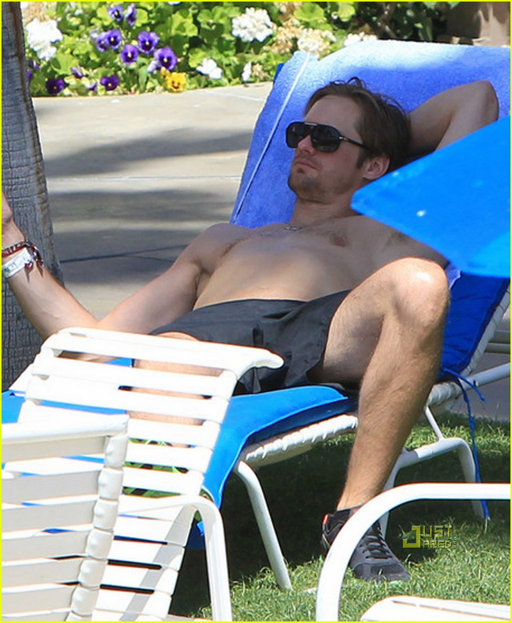 kate bosworth alexander skarsgard poolside pda 18