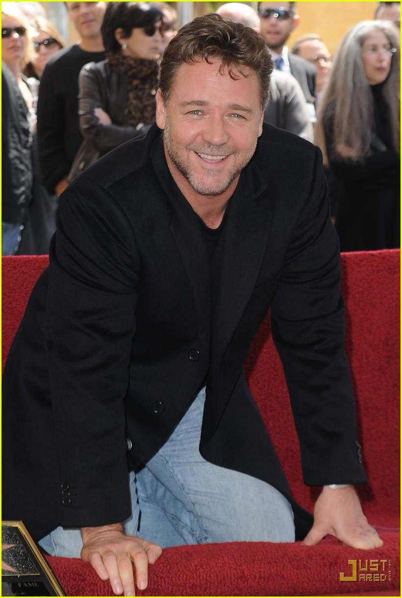russell crowe hollywood walk of fame star 07
