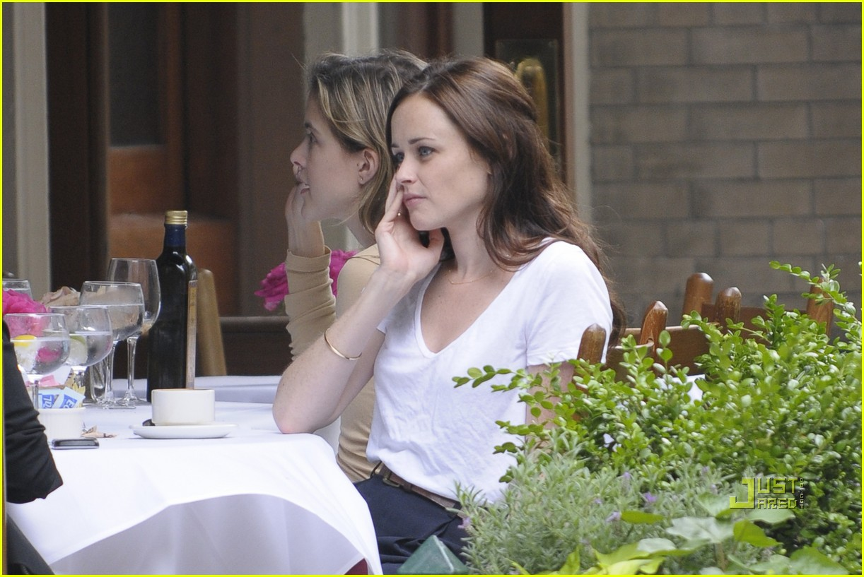 alexis bledel lunch friend nyc trenchcoat 022453446