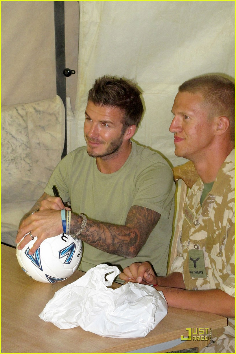 david beckham boosts british troop morale 03