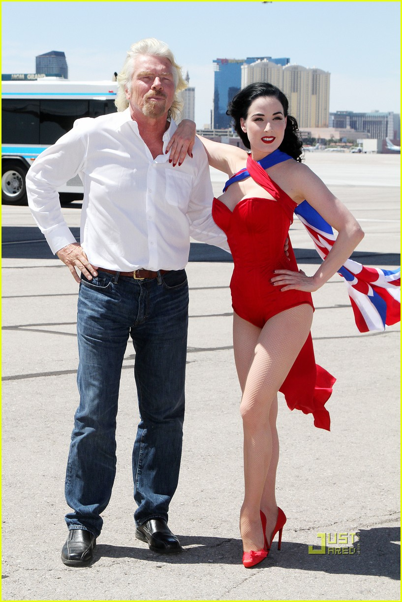 dita von teese virgin atlantic london to vegas 01