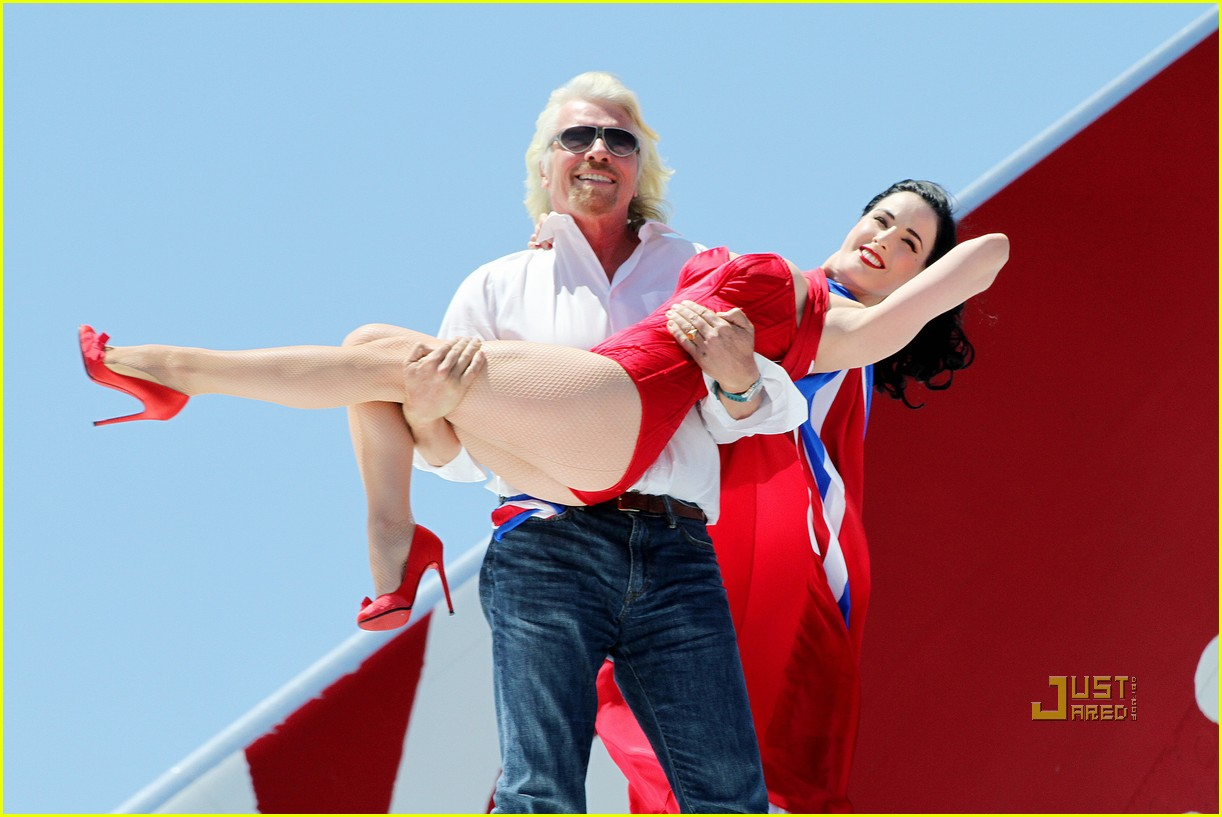 dita von teese virgin atlantic london to vegas 102459023