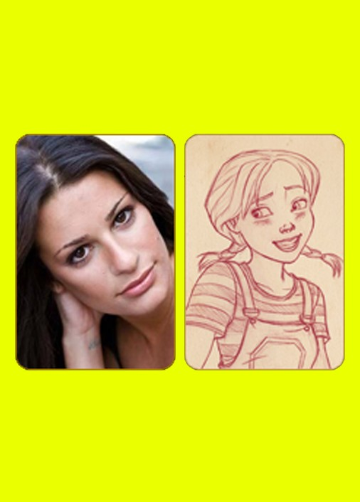 lea michele dorothy of oz character sketches 06