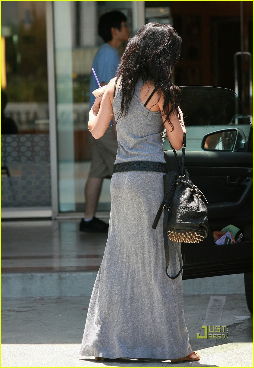 Vanessa hudgens grey maxi dress