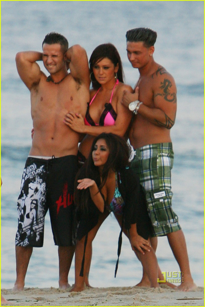 jersey shore cast beach photo shoot 02