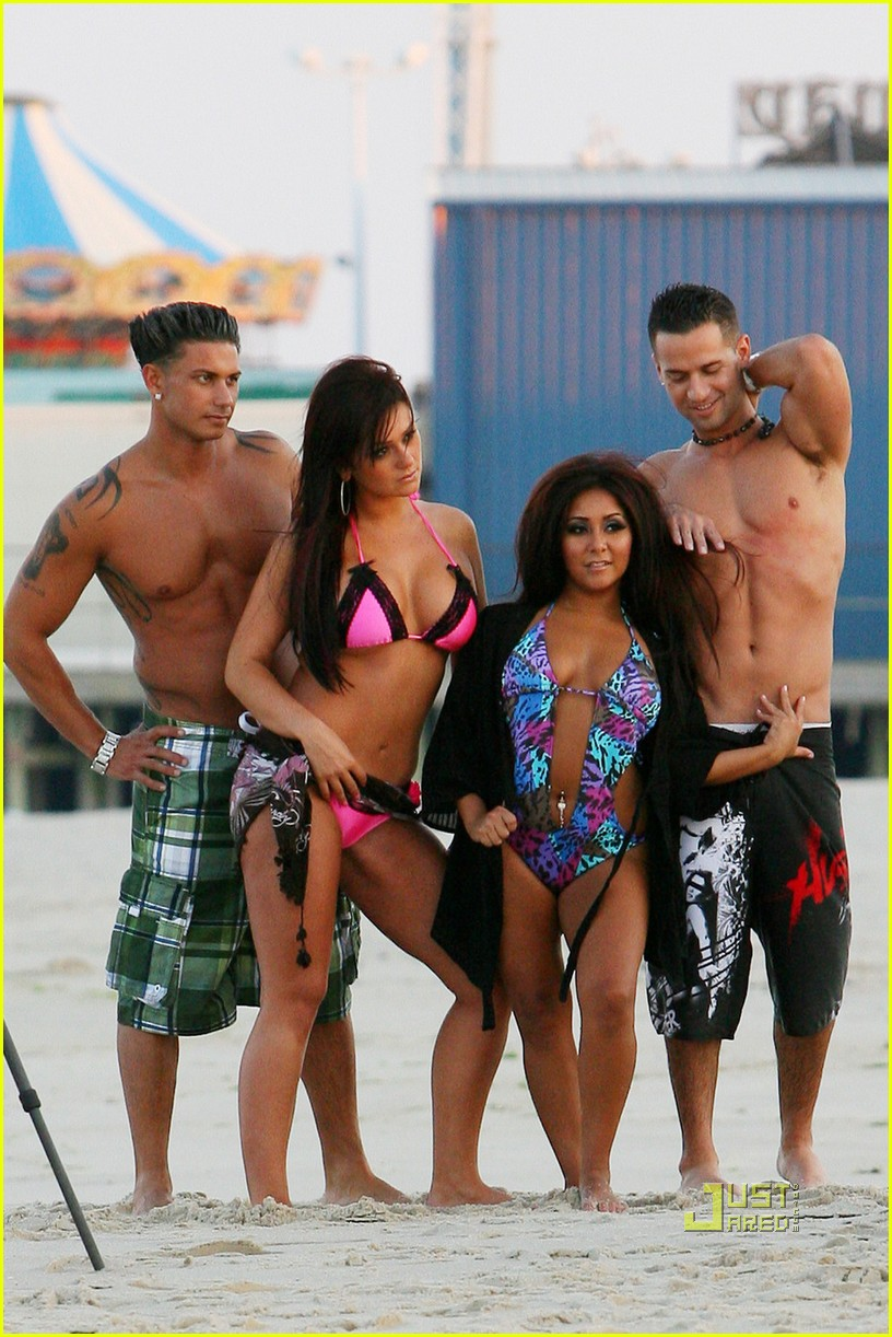 jersey shore cast beach photo shoot 13
