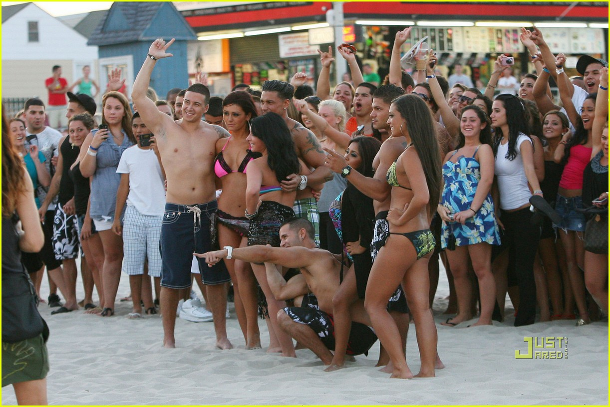 jersey shore cast beach photo shoot 14