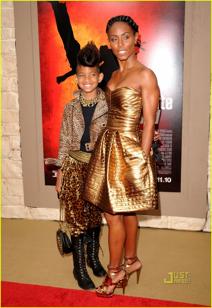 will smith willow jaden jada trey karate kid premiere 01