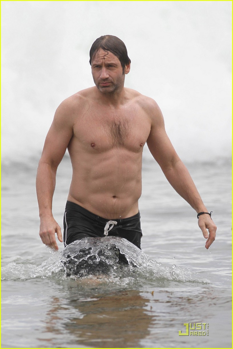 david duchovny shirtless independence 09