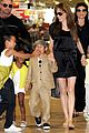 angelina jolie japan airport kids 04