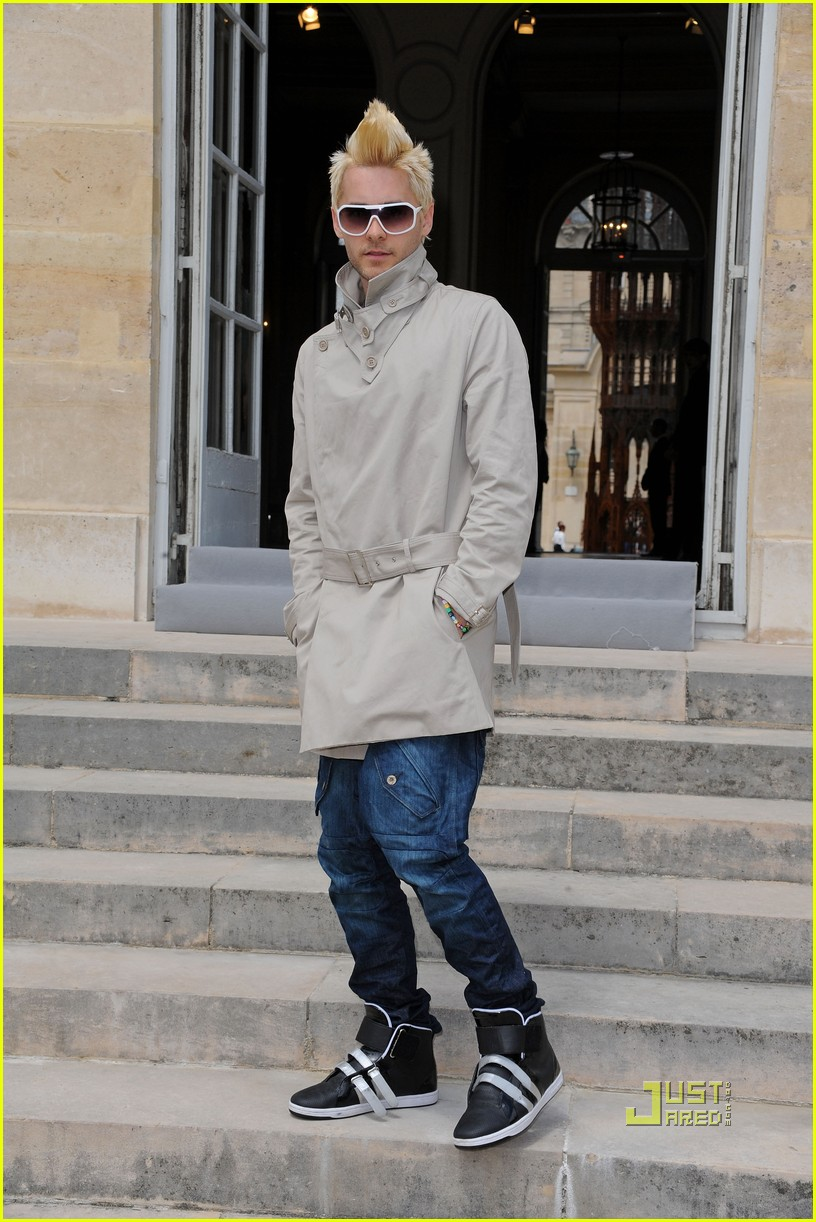 jared leto blonde mowhawk christian dior 12