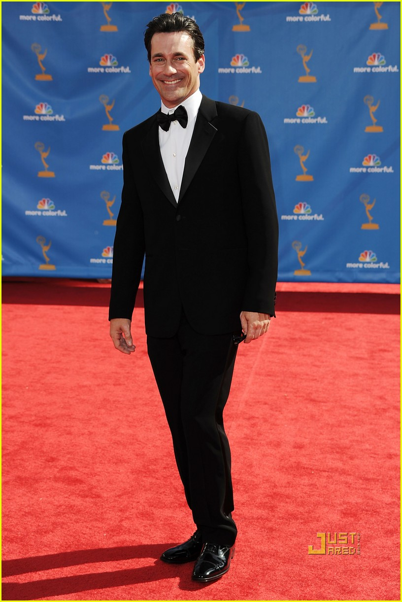 jon hamm jennifer westfeldt emmys 2010 red carpet 092476147