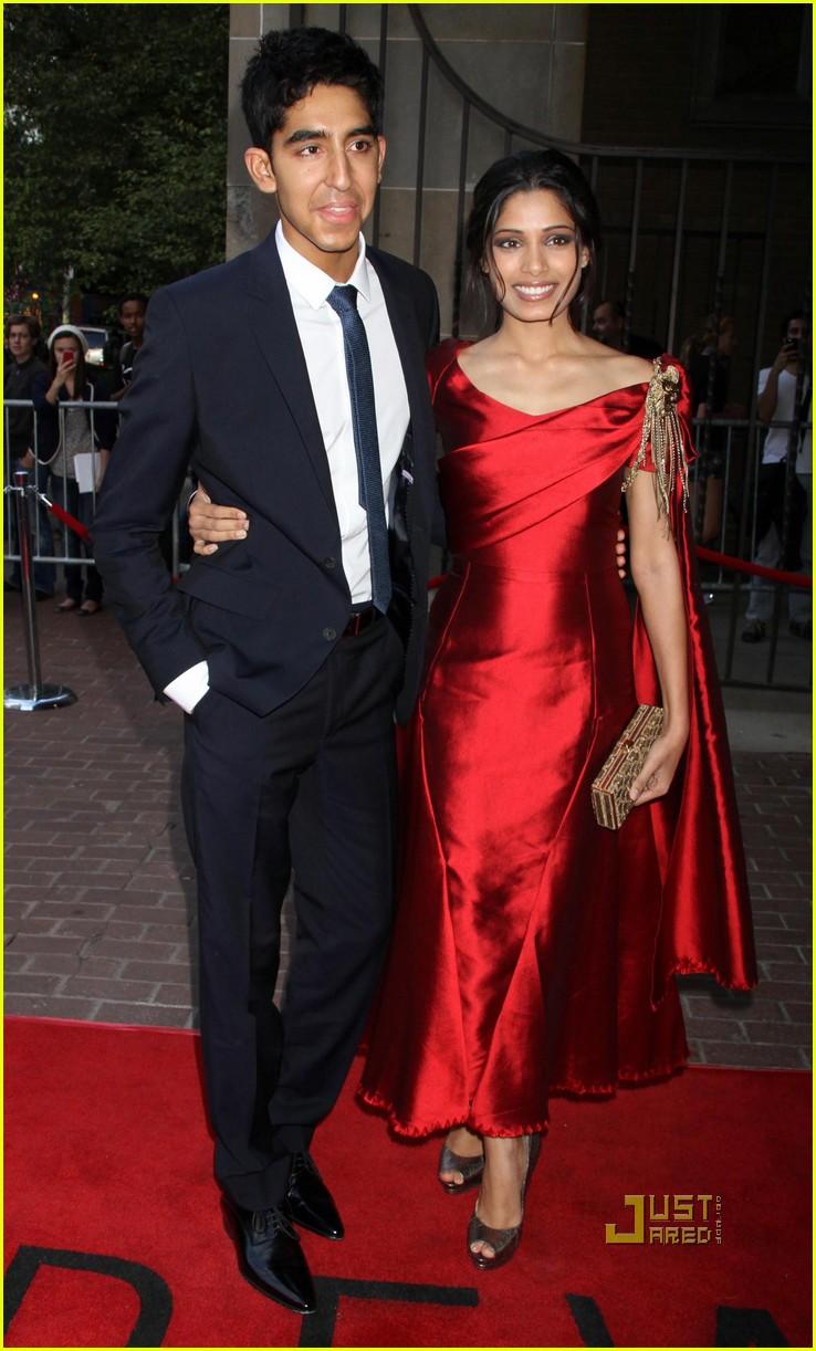 Full Sized Photo of freida pinto dev patel miral 23 ... Freida Pinto Married