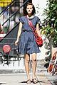 isabel lucas friend dog nyc madewell polka dot dress 01