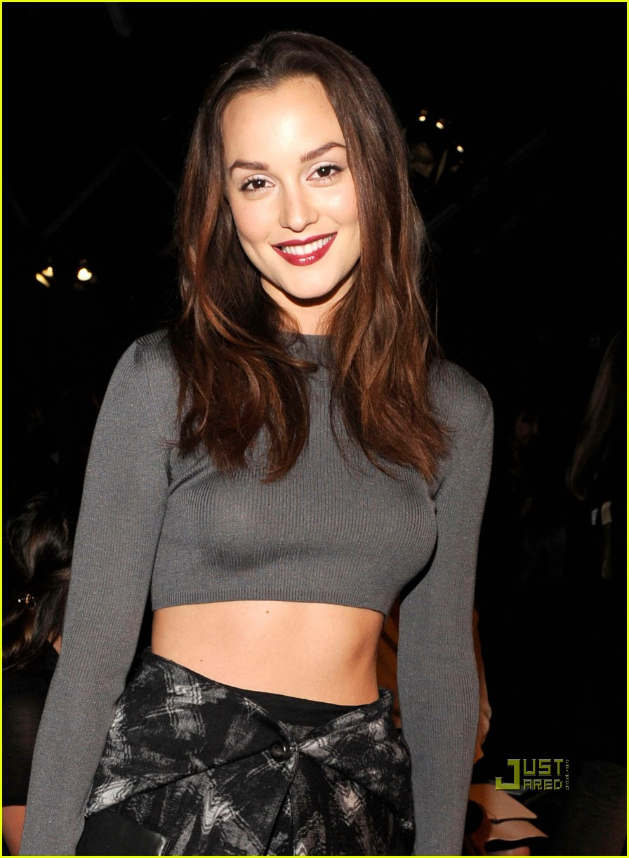 Full Sized Photo of leighton meester proenza schouler fashion week 04 ...