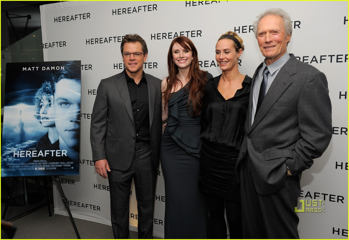 matt damon hereafter premiere with luciana 062486522