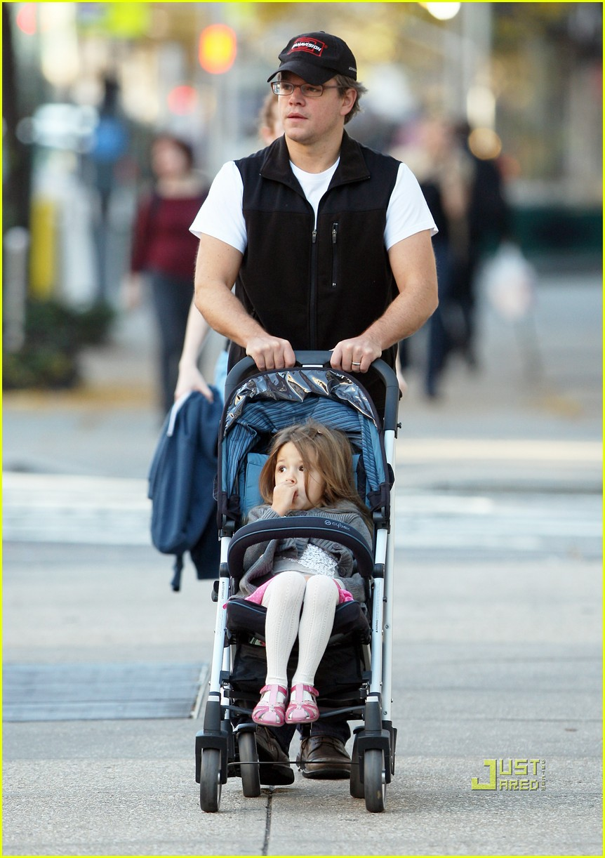 matt damon east village stroll with isabella 022491329