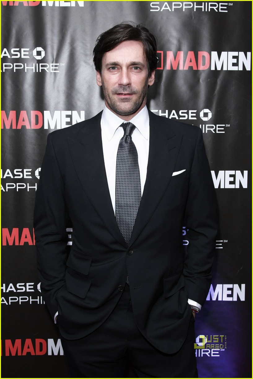 jon hamm mad men screening with jennifer westfeldt 01