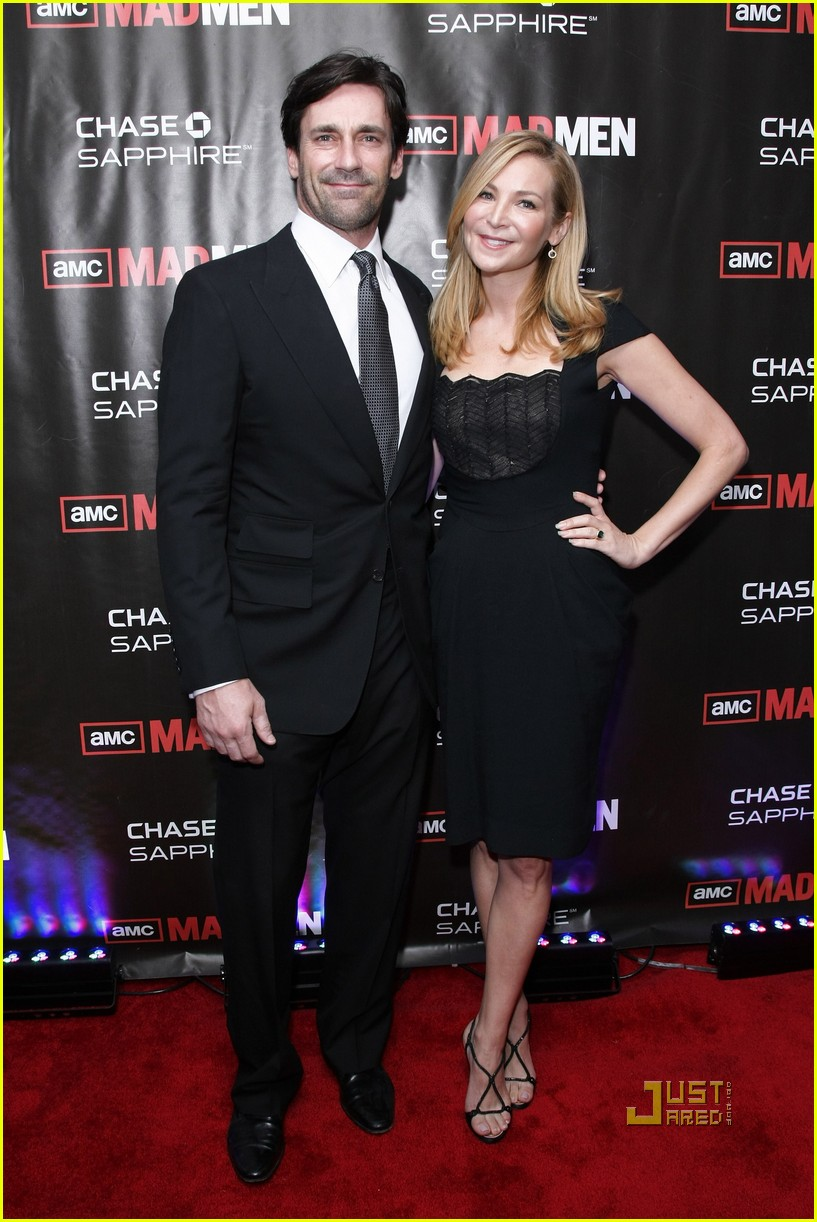 jon hamm mad men screening with jennifer westfeldt 02