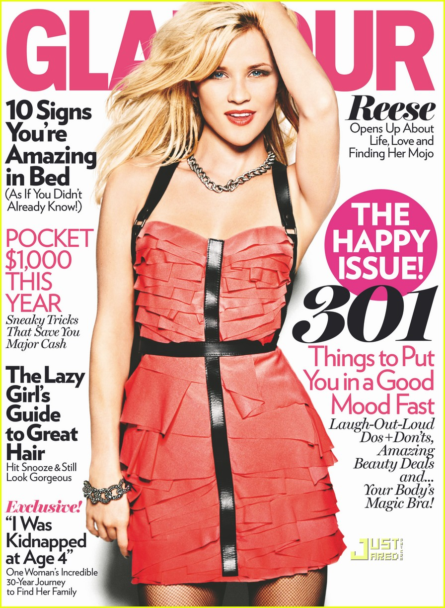 reese witherspoon glamour magazine january 02
