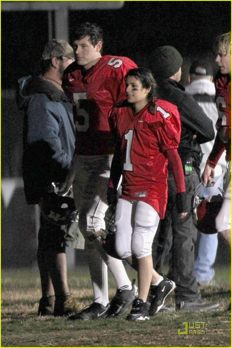 lea michele glee football player 01
