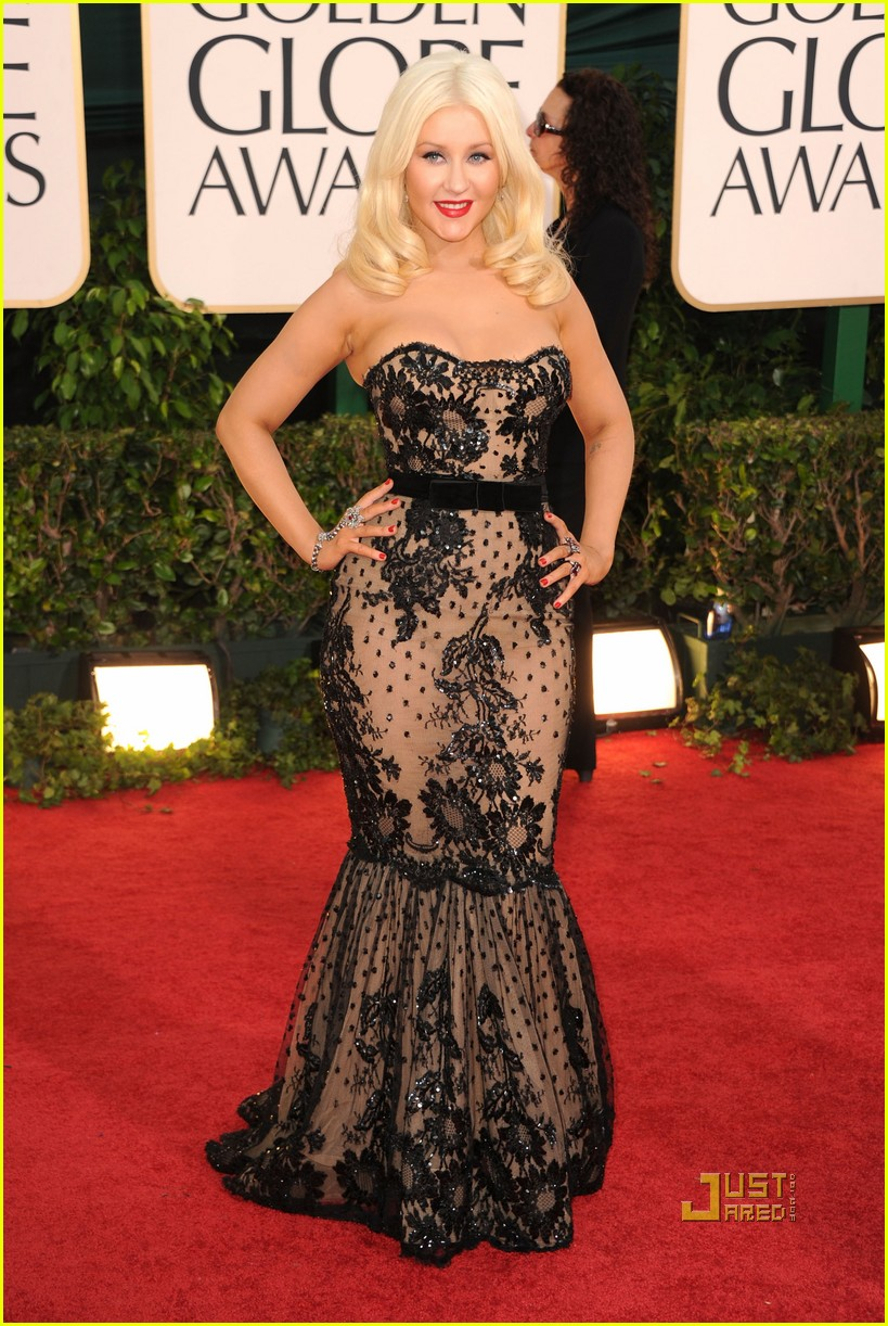 christina aguilera 2011 golden globes 06