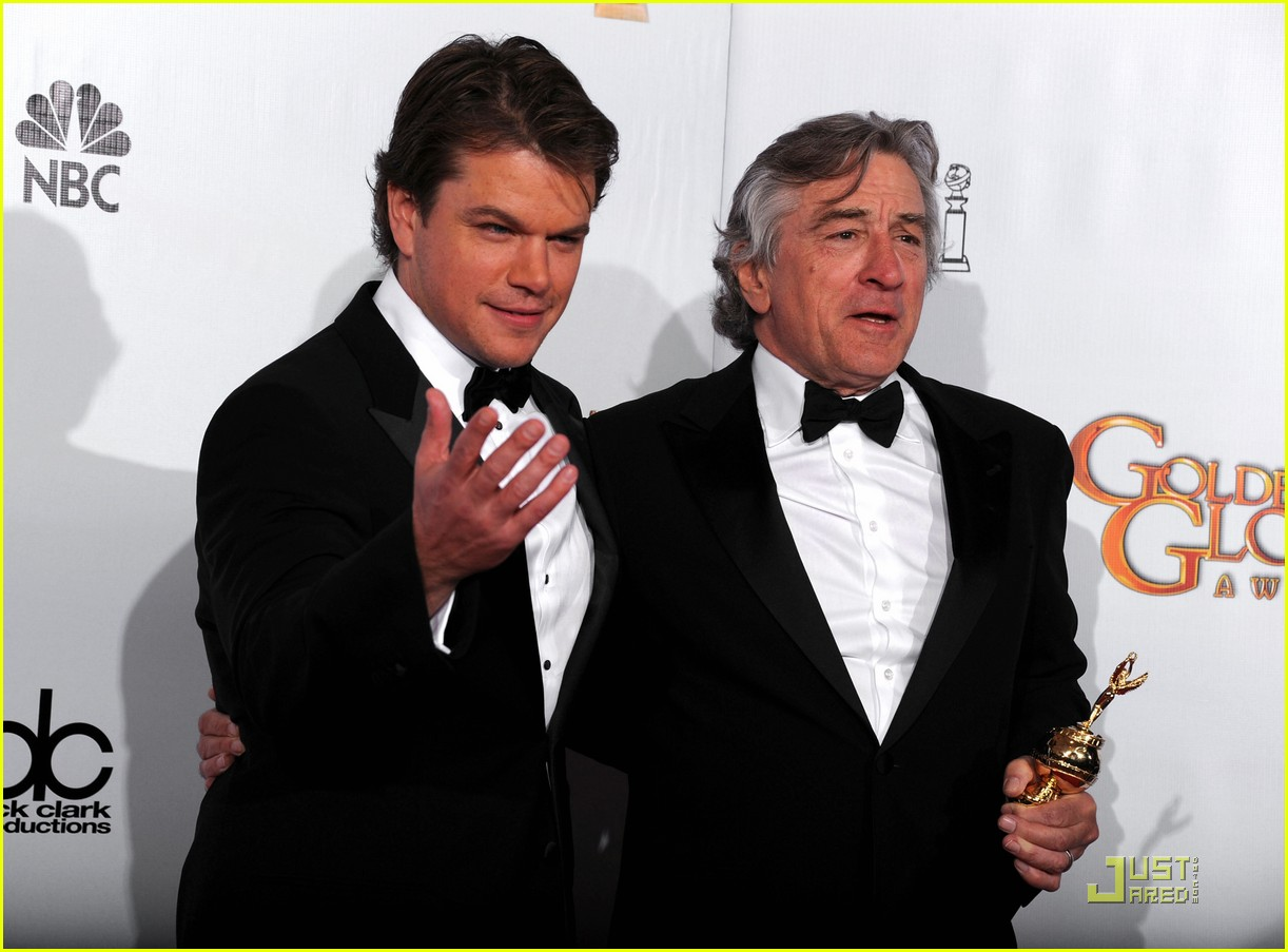 matt damon robert de niro golden globes 06