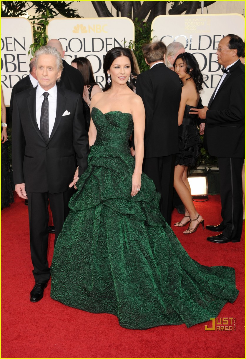 michael douglas catherine zeta jones golden globes 2011 12