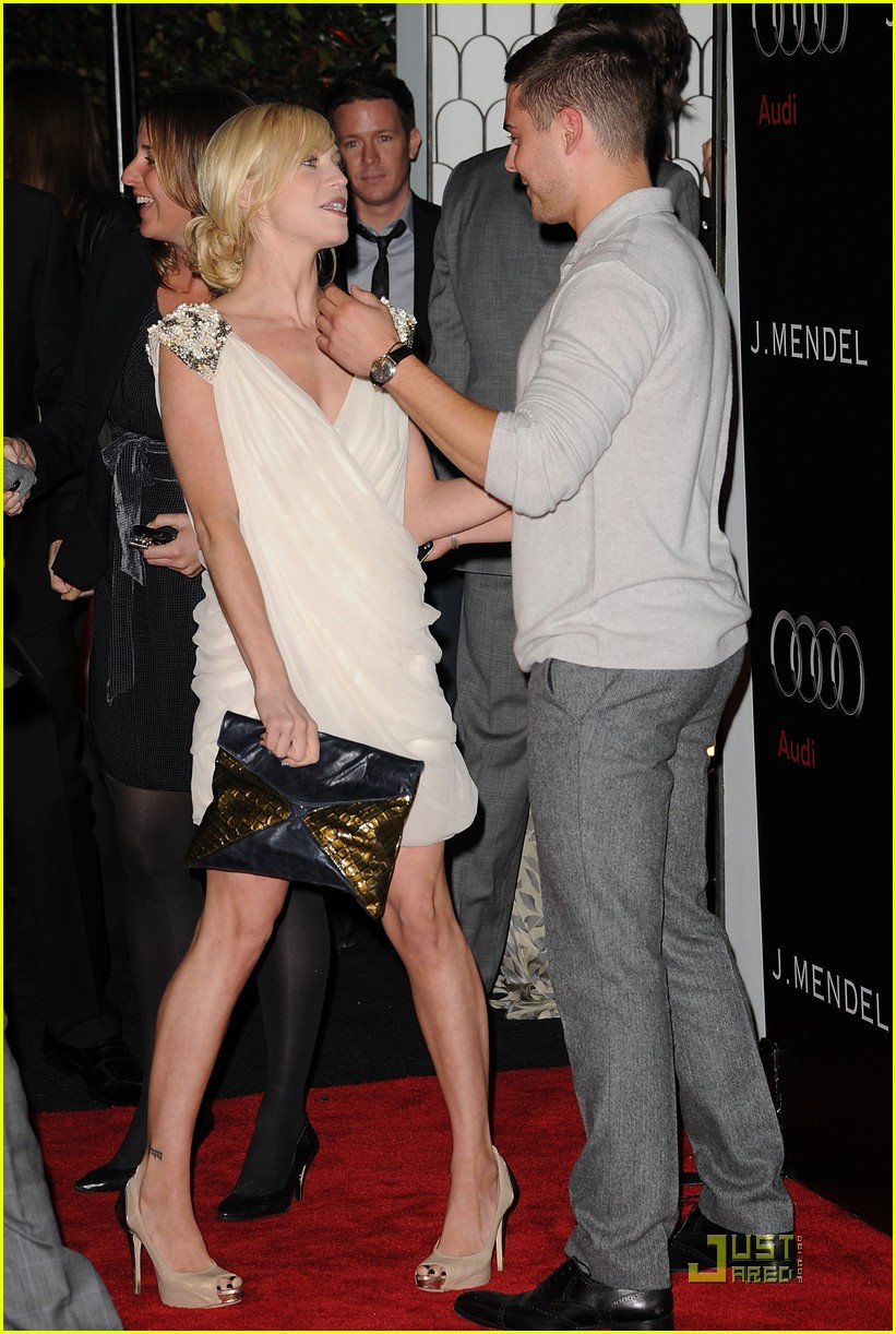 zac efron brittany snow audi golden globe party 012509654