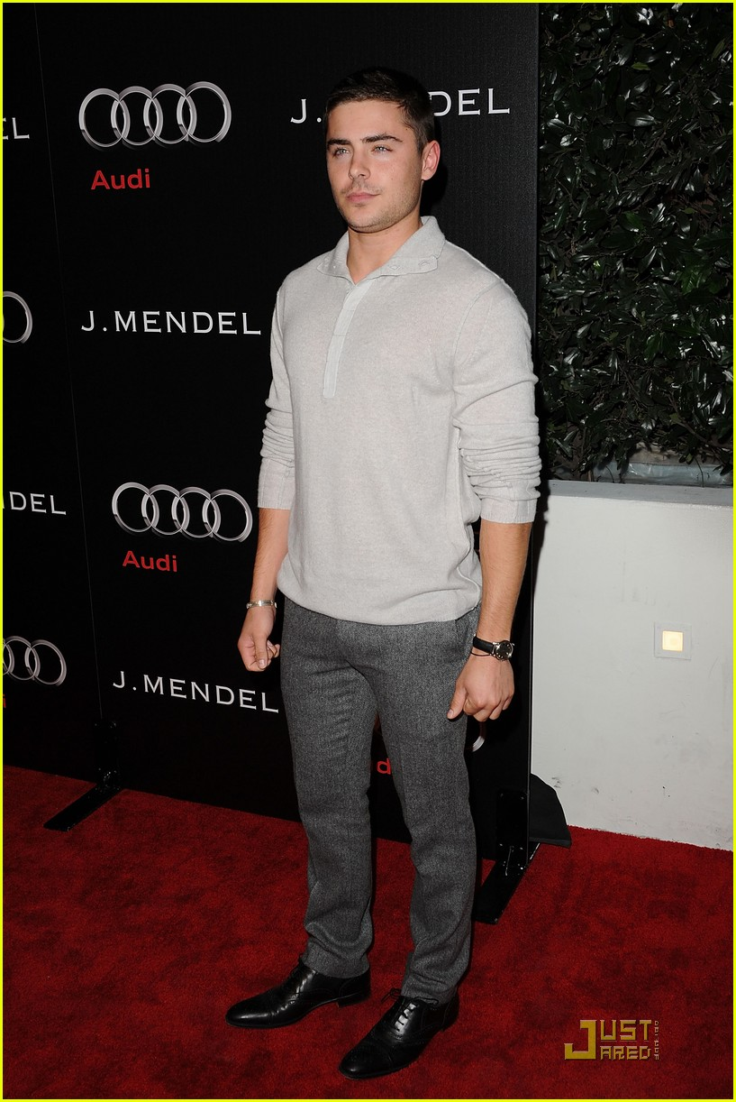 zac efron brittany snow audi golden globe party 02
