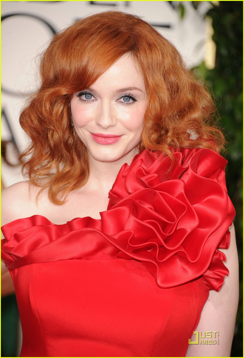 christina hendricks golden globes 02