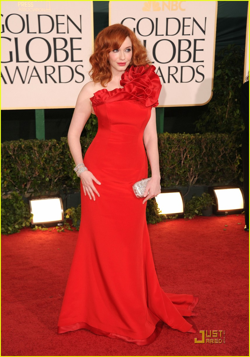 christina hendricks golden globes 03