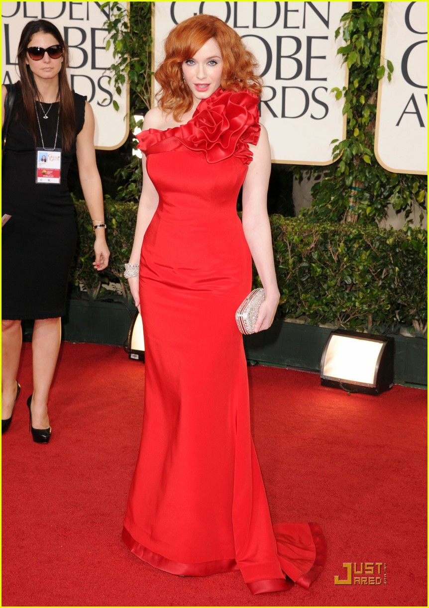 christina hendricks golden globes 06
