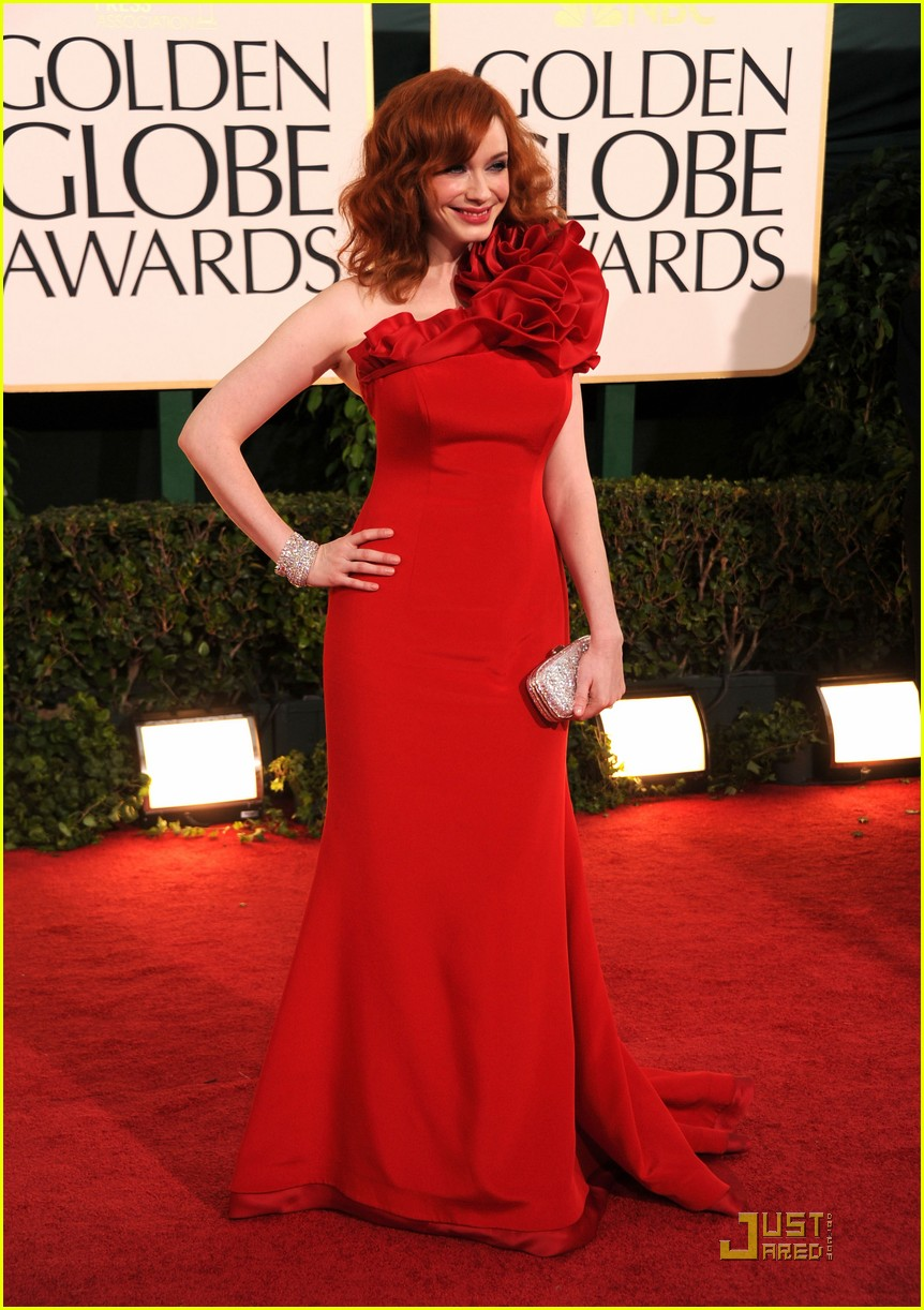 christina hendricks golden globes 07