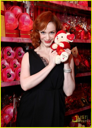 christina hendricks godiva pop up 04