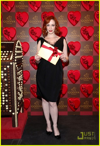 christina hendricks godiva pop up 05