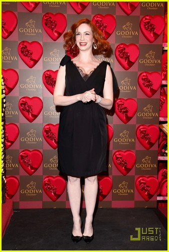 christina hendricks godiva pop up 06