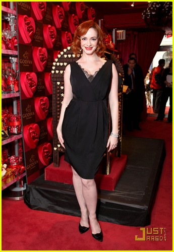 christina hendricks godiva pop up 08