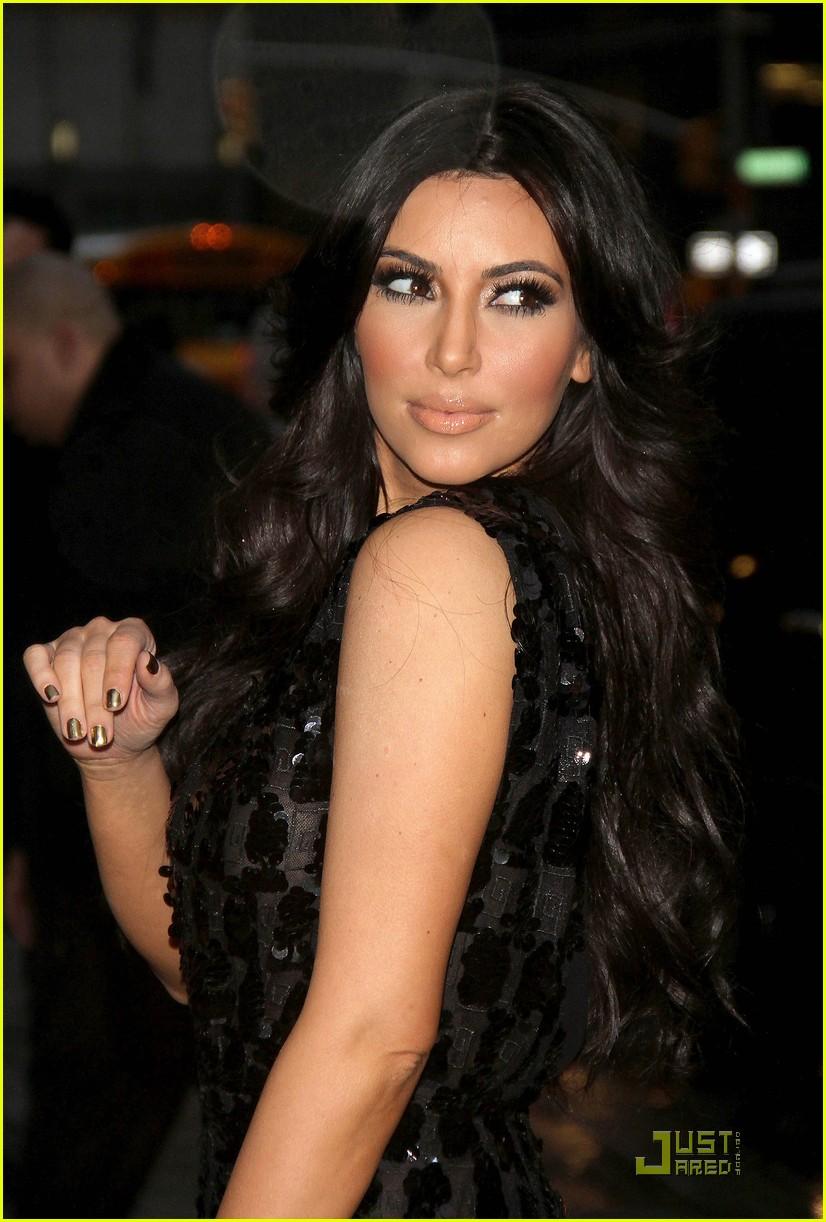 kim kardashian letterman 09