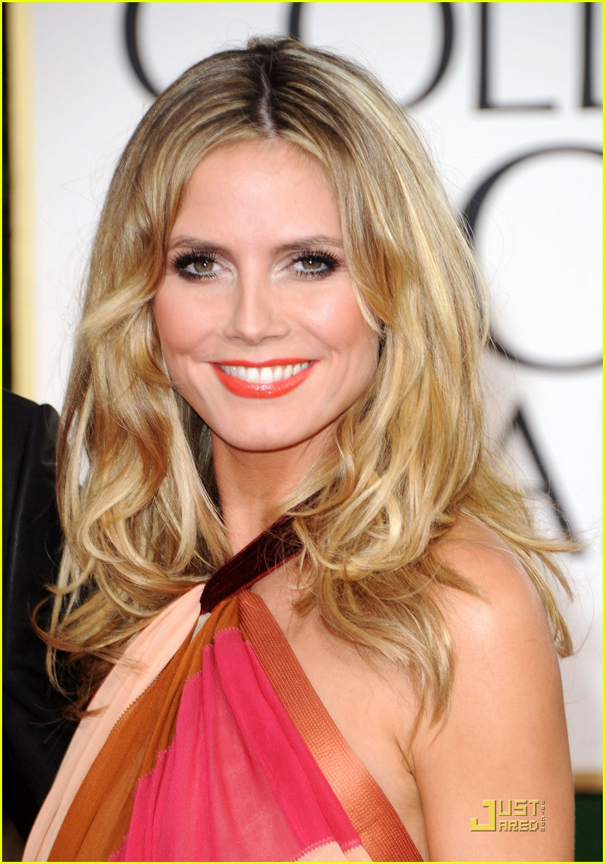 heidi klum seal golden globes 132512098