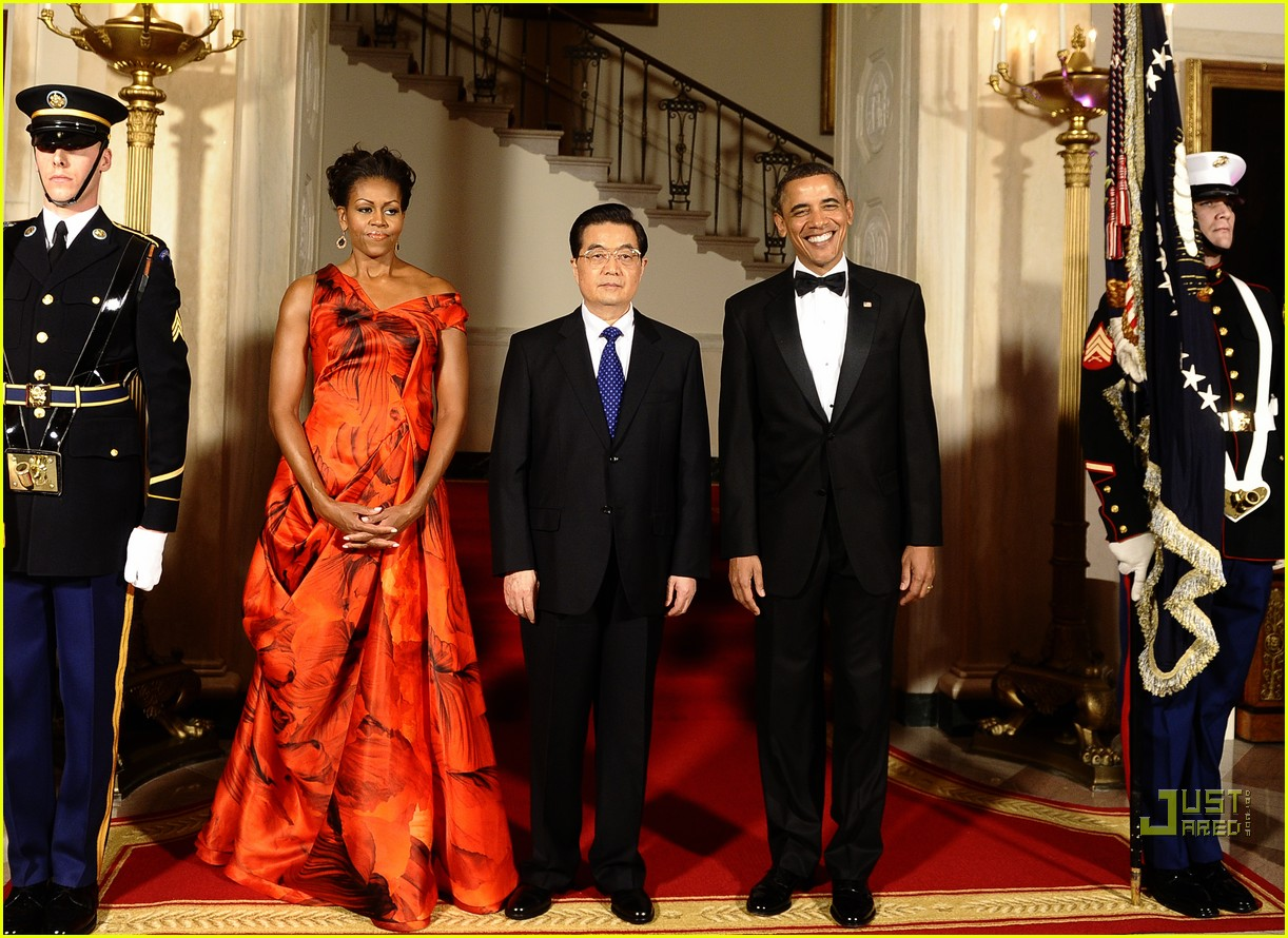 michelle obama china red 10