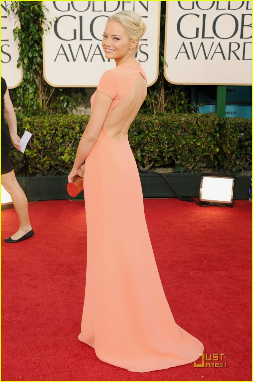 emma stone 2011 red carpet golden globe awards 09
