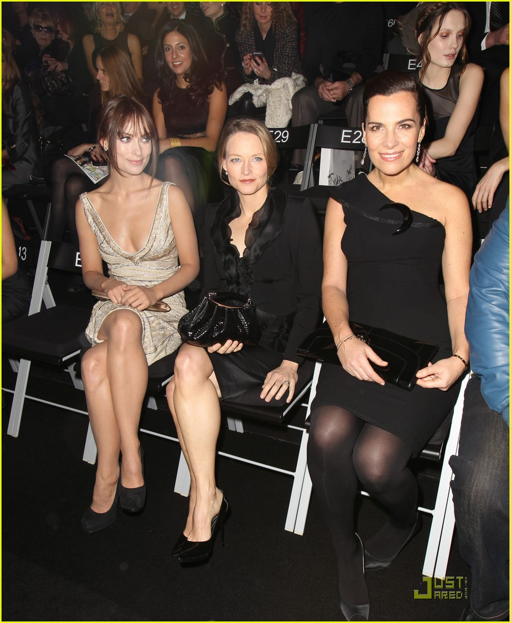 olivia wilde armani prive front row 062514171