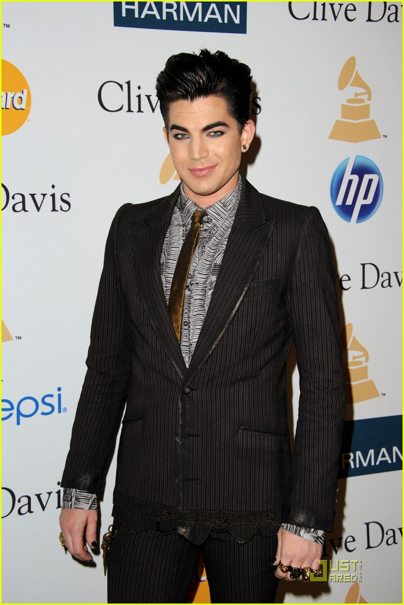 adam lambertpre grammy gala salute to industry icons 10