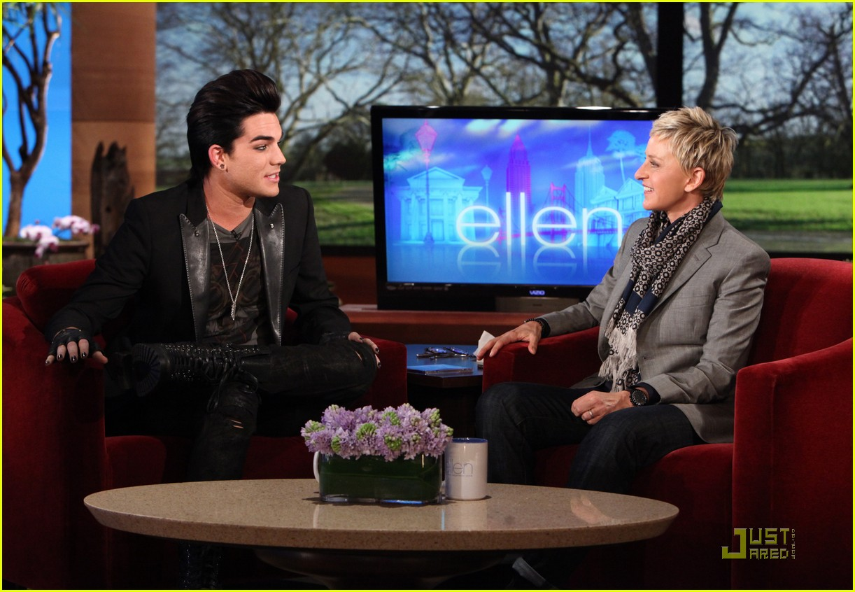 adam lambert ellen degeneres