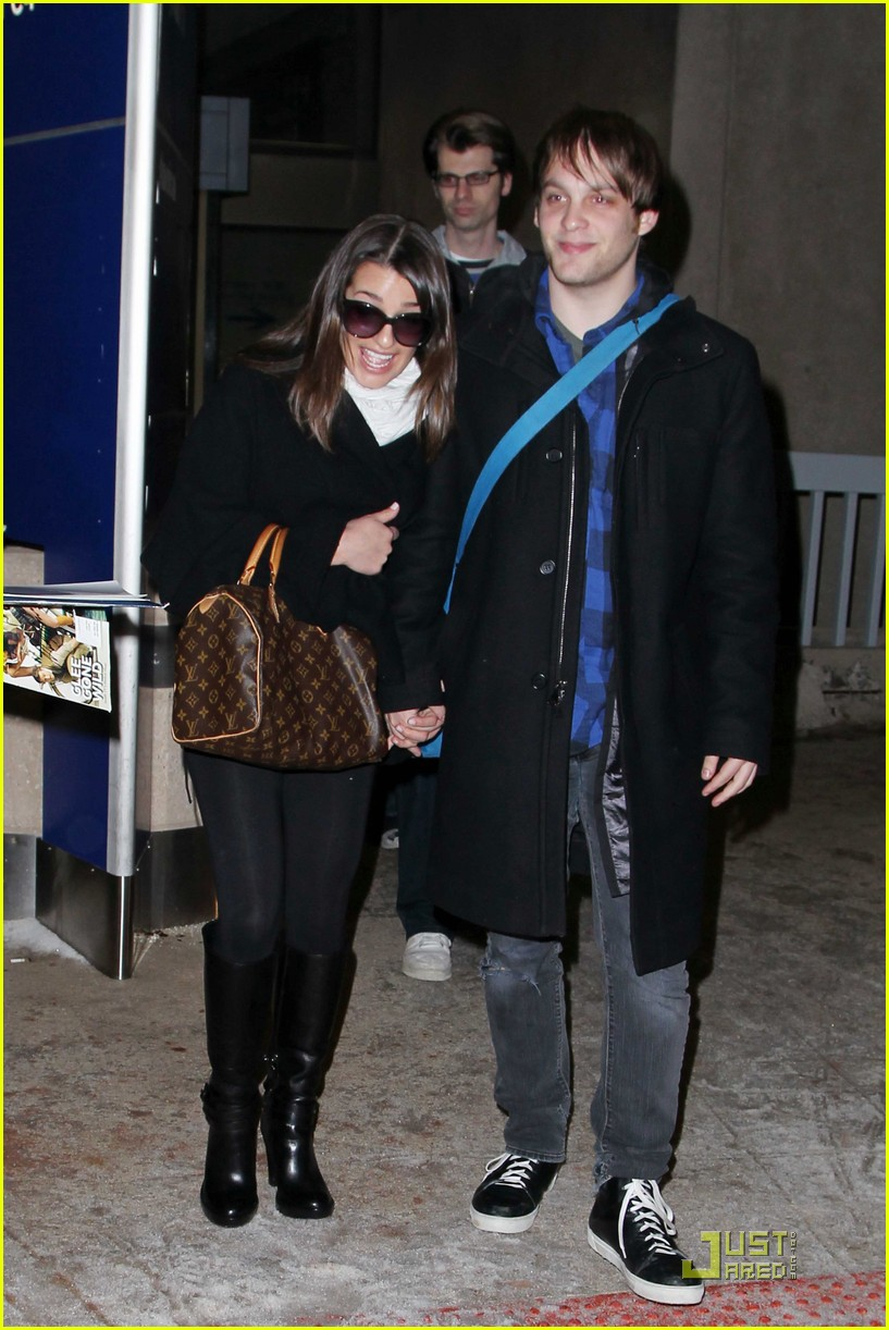 lea michele theo stockman dallas airport 03